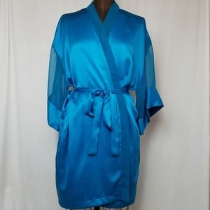 Gold Label Victoria's Secret Satin Chiffon Robe OS